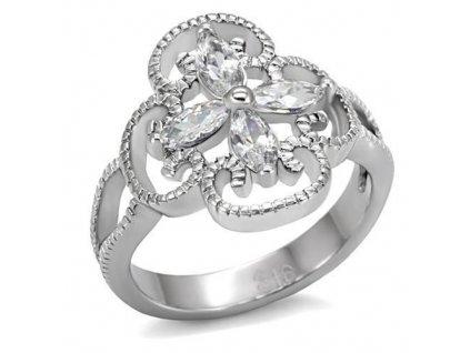 PR6044ZOC ocelovy prsten so zirkonmi