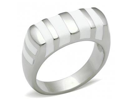 PR6053OC ocelovy prsten biely