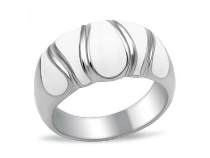 PR6055OC ocelovy prsten biely