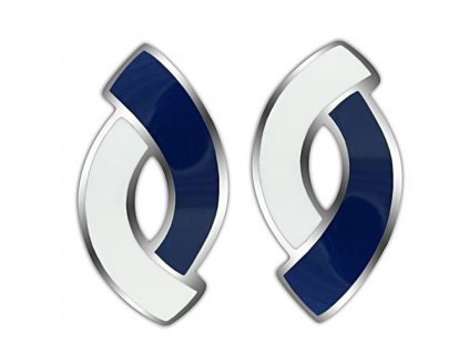 NA3430OC ocelove nausnice modro biele