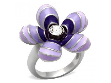 PR6062OC ocelovy prsten fialovy sen