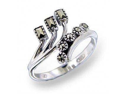PR4531ZSS - Strieborný prsteň so zirkónmi