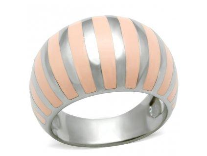 PR6065OC - Farebný oceľový prsteň