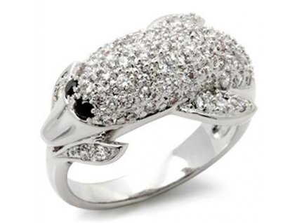 prsten zirkony delfin