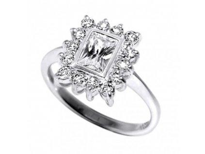 PR4549ZSS strieborny prsten so zirkonmi