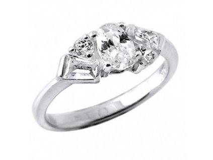 PR4551ZSS - Strieborný prsteň so zirkónmi
