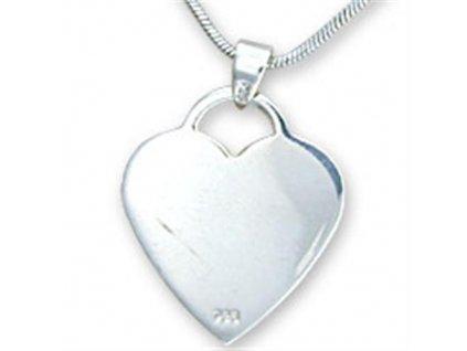 PV0238SS srdce strieborny privesok