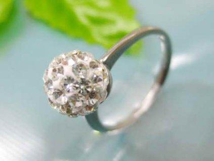PR6077ZOC Jemný oceľový prsteň so zirkónmi