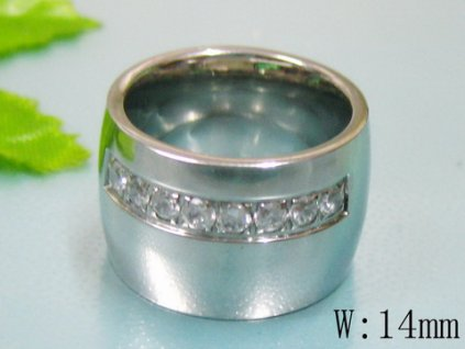 PR6078ZOC Oceľový prsteň so zirkónmi