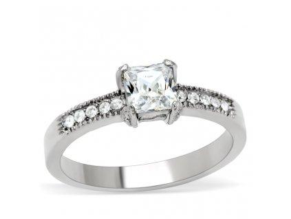 PR6097ZOC Oceľový prsteň so zirkónmi