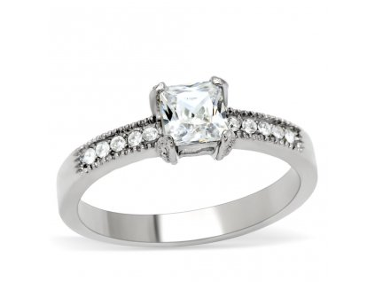 PR6097ZOC prsten z chirurgickej ocele so zirkonmi