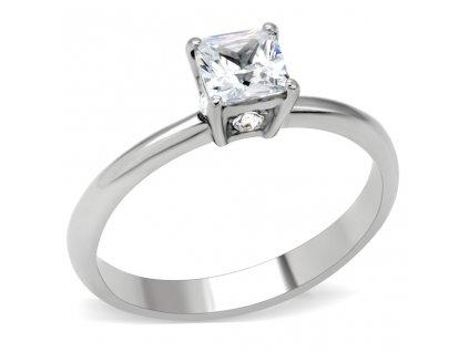 PR6115ZOC - Oceľový prsteň so zirkónmi