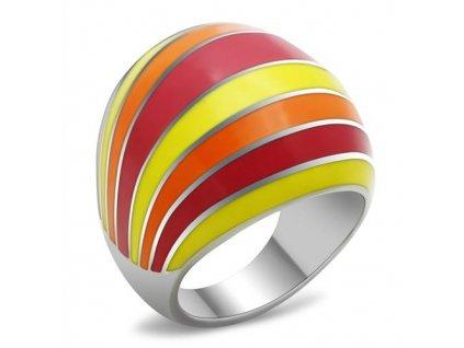 PR6124OC - Farebný oceľový prsteň