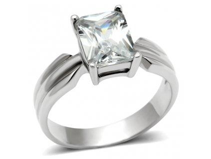 PR6132ZOC ocelovy prsten so zirkonom