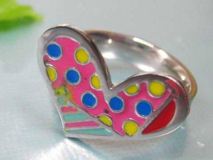 PR6141OC - Srdiečko - farebný oceľový prsteň