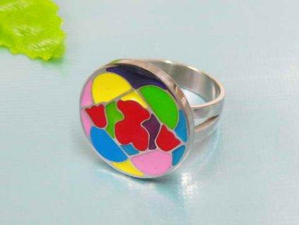 PR6142OC - Kruh - farebný oceľový prsteň