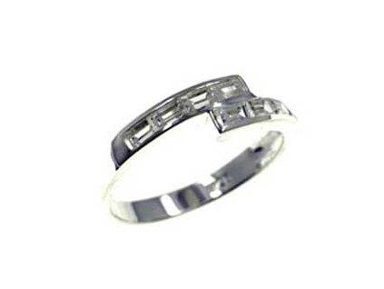 PR4583ZSS - Strieborný prsteň so zirkónmi