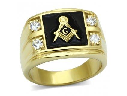 PR6163ZGOC pansky ocelovy prsten so zirkonmi