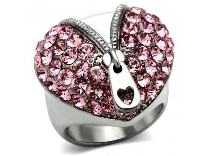 PR6167SWOC ocelovy prsten swarovski srdiecko