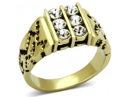 PR6185SWGOC - Pánsky prsteň so Swarovski kištálmi