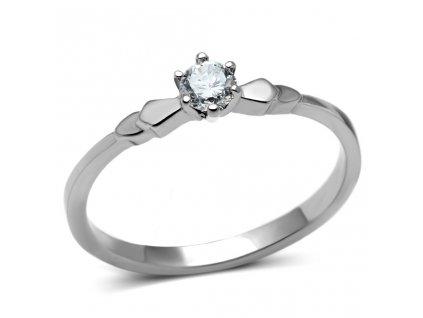 PR6193ZOC prsten z chirurgickej ocele so zirkonom