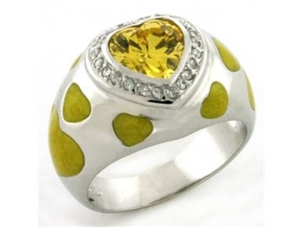 PR4609ZSS - Srdiečko - strieborný prsteň so zirkónmi