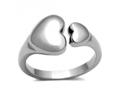 PR6203OC prsten z chirurgickej ocle so srdieckami
