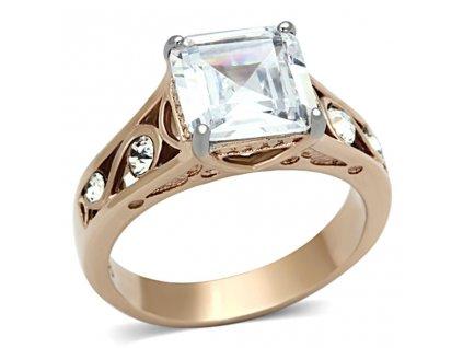 PR6250ZGOC prsten z chirurgickej ocele so zirkonmi