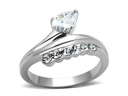 PR6251ZOC prsten z chirurgickej ocele so zirkonmi