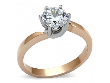 PR6256ZGOC - Zásnubný prsteň z chirurgickej ocele so zirkónom