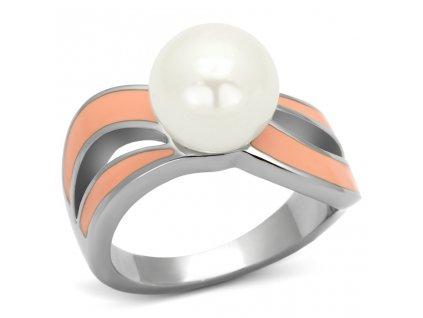PR6265POC - Prsteň z chirurgickej ocele s perlou