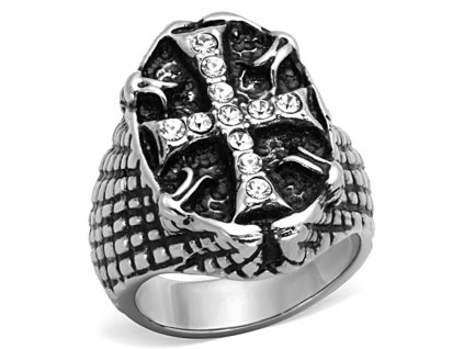 PR6281OC - Kríž - pánsky prsteň z chirurgickej ocele