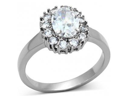 PR6285ZOC prsten z chirurgickej ocele so zirkonmi