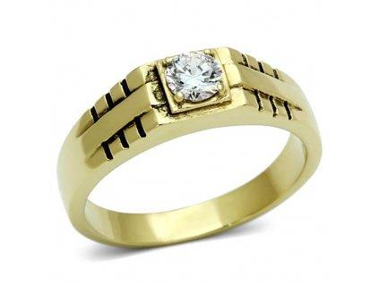 PR6300SWGOC - Pánsky prsteň z chirurgickej ocele so Swarovski krištálom