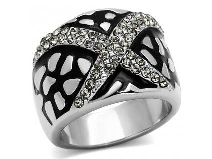 PR6302SWOC swarovski prsten ocelovy