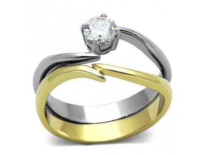 PR6304ZGOC prsten z chirurgickej ocele so zirkonom