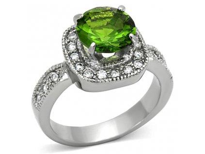 PR6306ZOC ocelovy prsten so zirkonmi