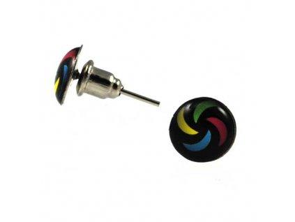 NA3511OC farebny vzor ocelove nausnice