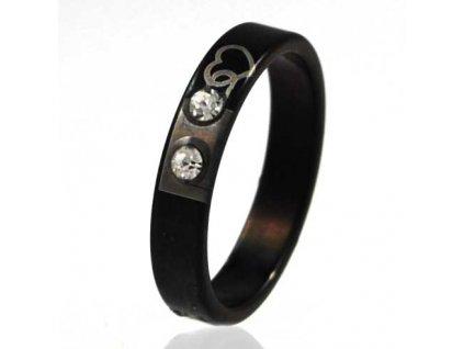 PR6317ZOC - Srdiečko - prsteň z chirurgickej ocele