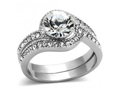 PR6323ZOC ocelovy prsten zirkony