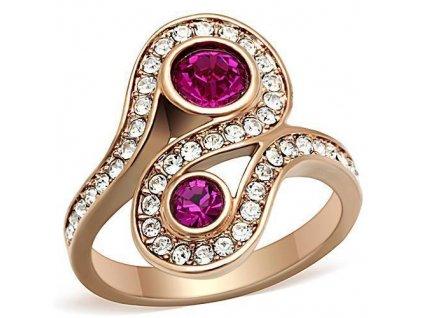 PR6328ZGOC ocelovy prsten fuchsia