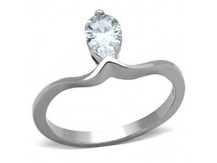 PR6343ZOC prsten z chirurgickej ocele so zirkonom