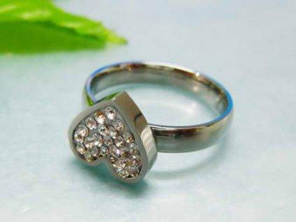 PR1031ZOC - Srdiečko  - prsteň z chirurgickej ocele