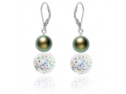 NA0526SWPOC swarovski perly kristaly nausnice