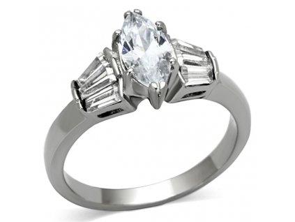 PR6348ZOC prsten z chirurgickej ocele so zirkonmi