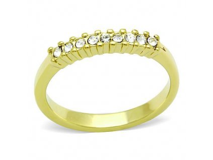 PR6355ZGOC ocelovy prsten so zirkonmi