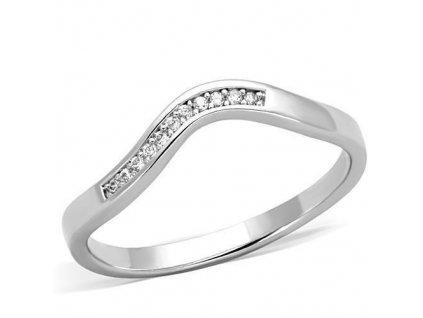 PR6366ZOC - Oceľový prsteň so zirkónmi