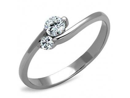 PR6367ZOC ocelovy prsten so zirkonom