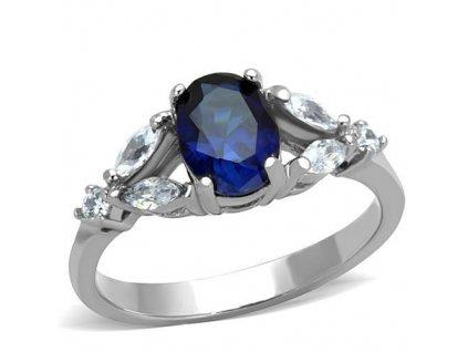 PR6370ZOC ocelovy prsten so zirkonmi