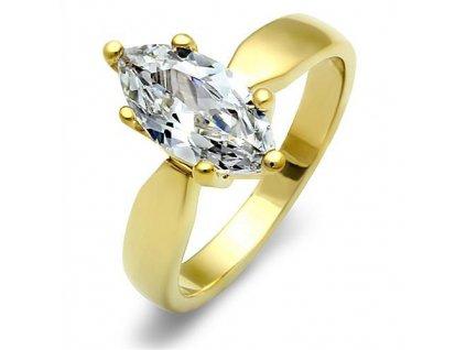 PR6374ZGOC ocelovy prsten so zirkonmi